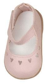 Käthe Kruse 37551 - Puppenschuhe rosa mit Herzmotiv f. Puppe Toni/Glückskind (33387)