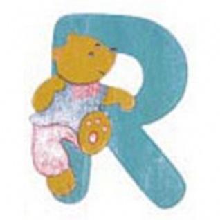 """Holz-Buchstabe """" R"""" - Teddy, Türschild"""