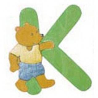 "Holz-Buchstabe "" K"" - Teddy, Türschild"