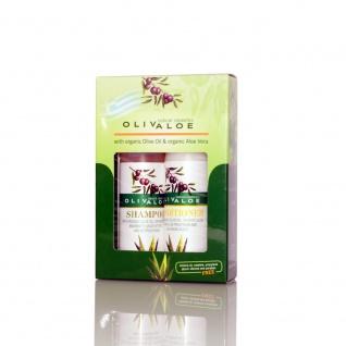 OLIVALOE 00254 - GESCHENKSET 2tlg., Shampoo 90ml + Conditioner 90ml, Naturkosmetik