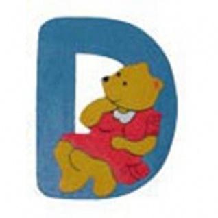 "Holz-Buchstabe "" D"" - Teddy, Türschild"
