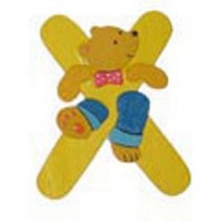"""Holz-Buchstabe """" X"""" - Teddy, Türschild"""