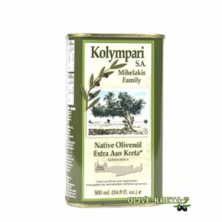 KOLYMPARI SA 04053 Natives Olivenoel Extra Kolympari Mihelakis 500ml Dose