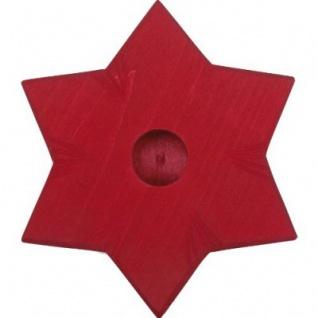 GLÜCKSKÄFER 522864 - Kerzenständer Stern rot - Vorschau