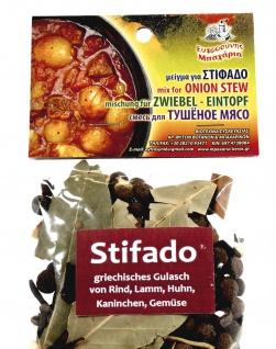 EFROSINI SPICES 033037 - Gewürzmischung für Zwiebel-Eintopf - Stifado 60g, Kreta