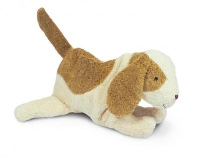 SENGER Y21035 - Kuscheltier Hund groß, Wärmekissen