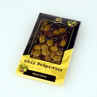 EFROSINI SPICES 620 - Gemischte Oliven ganz Frucht 250g, vakuumverpackt , aus Chania Kreta