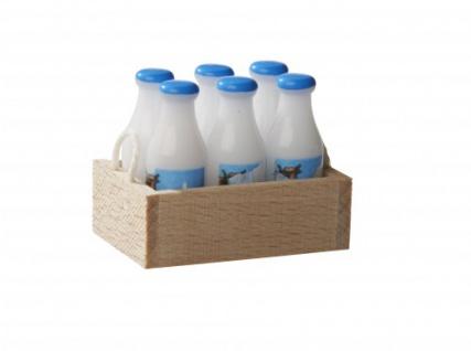 Bodo Hennig 27319 - Milchtragl Milchflaschen für Puppenstube