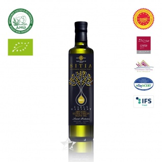 SI-MEL 12513 Organic Natives Olivenöl Extra 500ml - Frühe Ernte PDO SITIA Lassithi KRETA