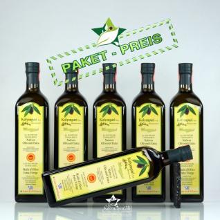 6x KOLYMPARI PDO 04025 Natives Olivenöl Extra 1 Liter Flasche (AKTION! 6 Flaschen a 1000 ml Kolymvari)