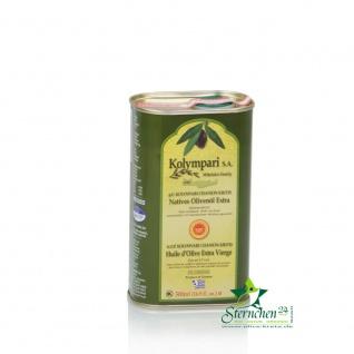 KOLYMPARI PDO 04033 Natives Olivenoel extra Kolympari Mihelakis 500ml Dose - Vorschau 2