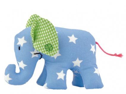 Käthe Kruse 78334 - Mini Elefant hellblau mit Sternchen