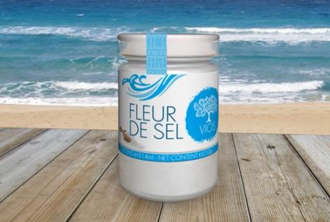 .VIOS 05920 Fleur de Sel (Salz Blume) Meersalz 260g Glas von KRETA
