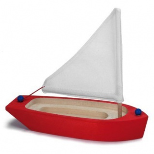 GLÜCKSKÄFER 526414 - Segelschiff, rot aus Holz