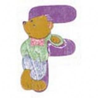 "Holz-Buchstabe "" F"" - Teddy, Türschild"