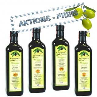 4x KOLYMPARI PDO 04024 Natives Olivenöl Extra 3 Liter (AKTION ! 4 Flaschen a 750 ml Kolymvari)