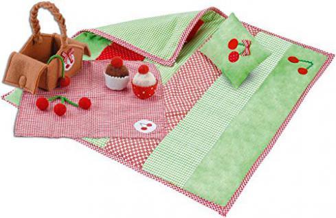 Käthe Kruse 38291 - Puppen Bekleidung - Picknickset Kirsche