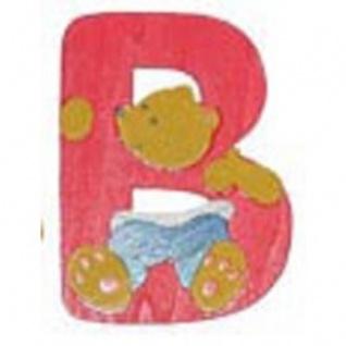 "Holz-Buchstabe "" B"" - Teddy, Türschild"