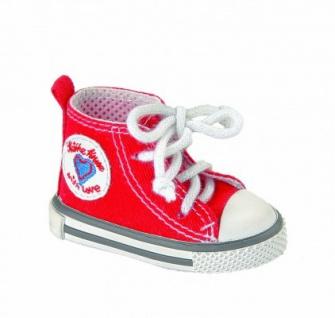 Käthe Kruse 33383 - Puppenschuhe All Stars, rot für Stehpuppen