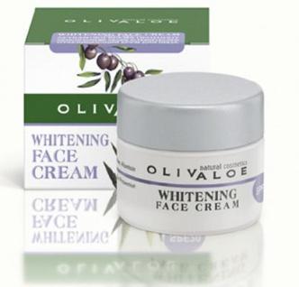 OLIVALOE 00137 - WHITENING FACE CREAM SPF20 - Gesichtscreme gegen Pigmentflecken 40ml, Naturkosmetik