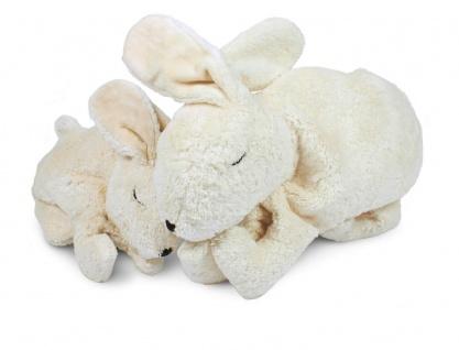 SENGER Y21017 - Kuscheltier Hase klein weiß, Wärme-/Kühlkissen