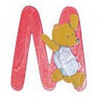 """Holz-Buchstabe """" M"""" - Teddy, Türschild"""
