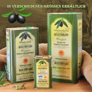 3x KOLYMPARI PDO 04025 Natives Olivenöl Extra 1 Liter Flasche (AKTION! 3 Flaschen a 1000 ml Kolymvari) - Vorschau 3