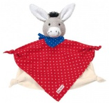 Käthe Kruse 74848 - Baby Esel Tomato Schmusetuch klein
