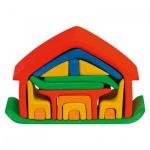 GLÜCKSKÄFER 523266 - Haus mit Möbel, rot/blau