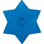 GLÜCKSKÄFER 522866 - Kerzenständer Stern blau