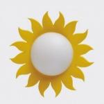 Bodo Hennig 26377 - Wandlampe Blume gelb für Puppenhaus