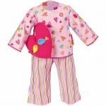 Käthe Kruse 33990 - Puppen Bekleidung - Pyjama mit Herzkissen, 39-41 cm, rosa/bunt