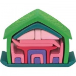 GLÜCKSKÄFER 523265 - Haus mit Möbel, grün/rose