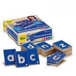 ERZI 42022 - Lernspiel Kleinbuchstaben Deutsch, Holz Spielzeug