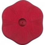 GLÜCKSKÄFER 522854 - Kerzenständer Blume rot