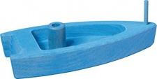 GLÜCKSKÄFER 526461 - Boot mit Luftantrieb, blau aus Holz