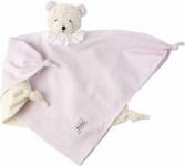 Käthe Kruse 74914 - Vichy Schmusetuch Bär rosa