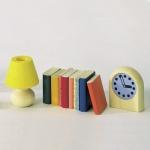 Bodo Hennig 27082 - Bücher, Lampe, Uhr für Puppenstube