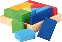 GLÜCKSKÄFER 523343 - Baukasten Quadrat - Formen-Mix