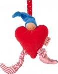 Käthe Kruse 73751 - Organic Waldorf Kindersitzanhänger Herz rot