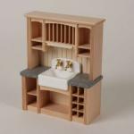 Bodo Hennig 23732 - Küchenzeile mit Spüle für Puppenstube