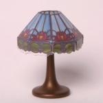 Bodo Hennig 26340 - Tischlampe Tiffany blau für Puppenhaus