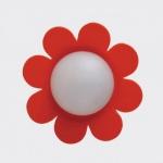 Bodo Hennig 26378 - Wandlampe Blume orange für Puppenhaus