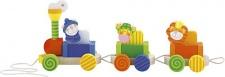 Sevi 81674 - Zug mit Tieren - Nachziehspielzeug und Bausteine