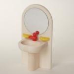 Bodo Hennig 21504 - Waschbecken mit Spiegel für Puppenstube