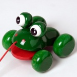Walter 63675 - Laubfrosch, Nachziehspielzeug