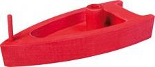 GLÜCKSKÄFER 526460 - Boot mit Luftantrieb, rot aus Holz