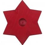 GLÜCKSKÄFER 522864 - Kerzenständer Stern rot