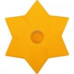 GLÜCKSKÄFER 522867 - Kerzenständer Stern gelb