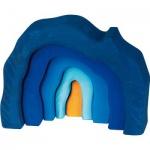 GLÜCKSKÄFER 523323 - Höhlen-Set 5-teilig, blau
